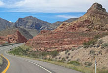 Arizona Highway amid mountains