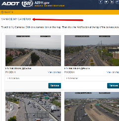 AZ511 application traffic cameras view