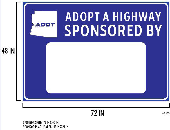 Adopt a Highway blank sponsor sign sample