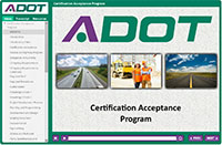ADOT Certification Acceptance Training Manual
