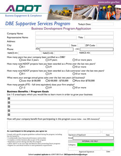 Business Development Program Application