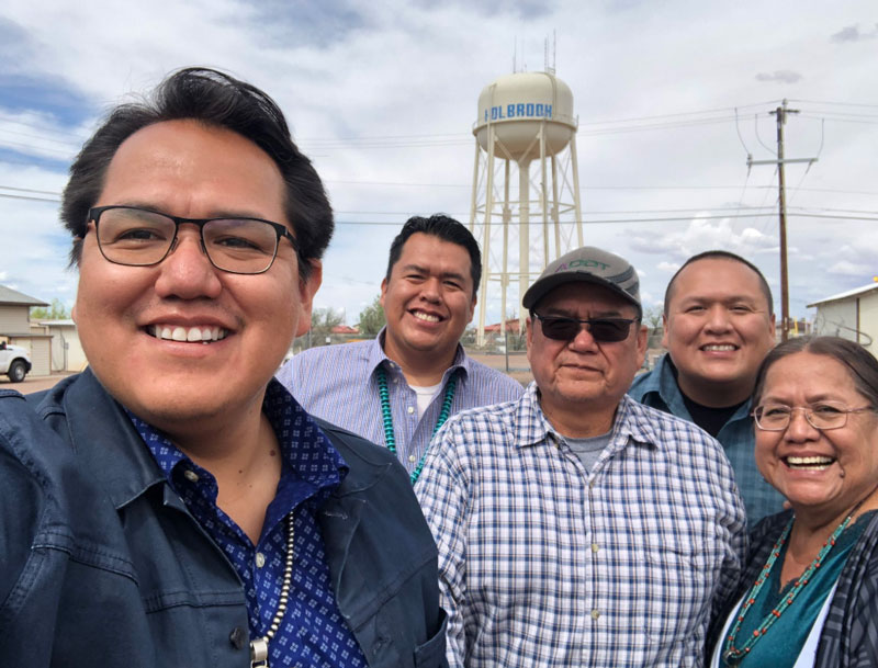 ADOT Engineer Kee Yazzie celebrates his retirement with his family.