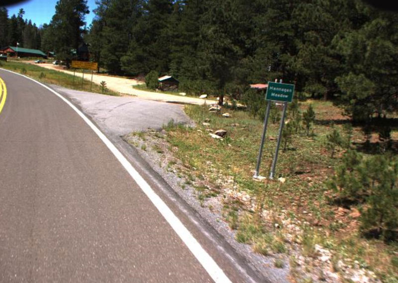 US 191 in the White Mountains near Hannagan Meadow is the highest paved section of Highway in the state.