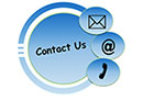 Contact Commercial Vehicle Permits: Circle with mail, email, and phone icons