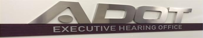 ADOT Executive Hearing Office Sign