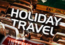 "Holiday Travel Restrictions: Cars in traffic under ""Holiday Travel"""