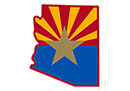 Local Counties and Cities Information: Arizona flag design over state outline