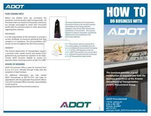 brochure - How to do business with ADOT
