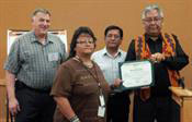Bernadette Kniffin accepting Spirit Award