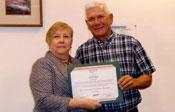 Bob Hoyt accepting Spirit Award