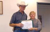 Clint Peterson accepting Spirit Award