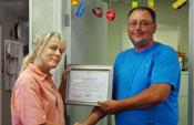 Del Whittington accepting Spirit Award