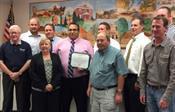 Jesse Gutierrez accepting Spirit Award