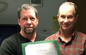 Jon Lenzmeier accepting Spirit Award