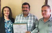 Kiran Guntupalli accepting Spirit Award