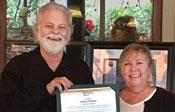 Layne Patton accepting Spirit Award