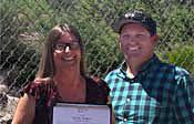 Mindy Teague accepting Spirit Award