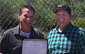 Norm Bessler accepting Spirit Award
