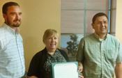 Orlando Carroll accepting Spirit Award