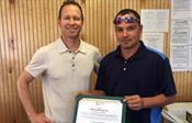 Patrick McCarron accepting Spirit Award