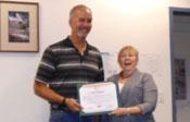Pete Thompson accepting Spirit Award