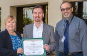 Randall Beck accepting Spirit Award
