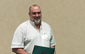 Rick Schilke accepting Spirit Award