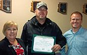 Robert Cunningham accepting Spirit Award