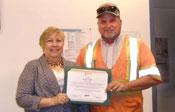 Scott Gahr accepting Spirit Award