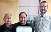 Tara Chief accepting Spirit Award
