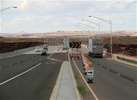 Road Work on US 89