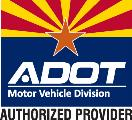ADOT Motor Vehicle Divisions Authorized Provider Logo in Color