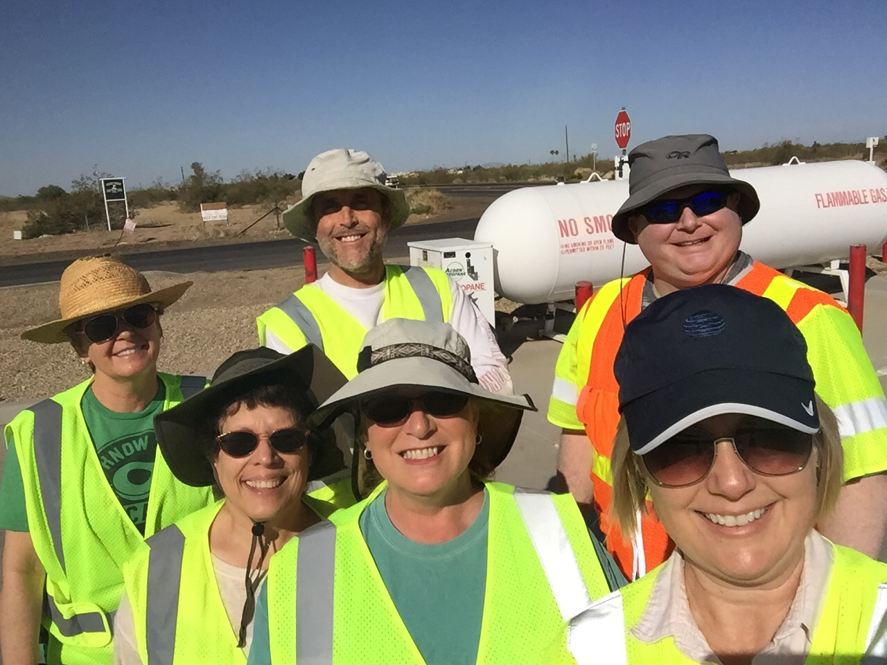 ADOT Communications Adopt a Highway volunteers take a selfie