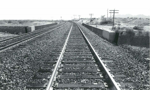 Archive photo of railroad tracks coming from Ligurta Underpass