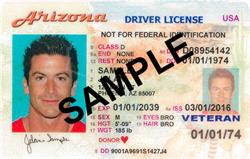 AZ Driver License Sample Standard