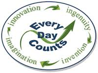 Every Day Counts Logo: Innovation, Ingenuity, Invention, Imagination