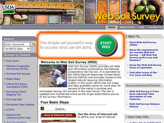 Web Soil Survey Homepage