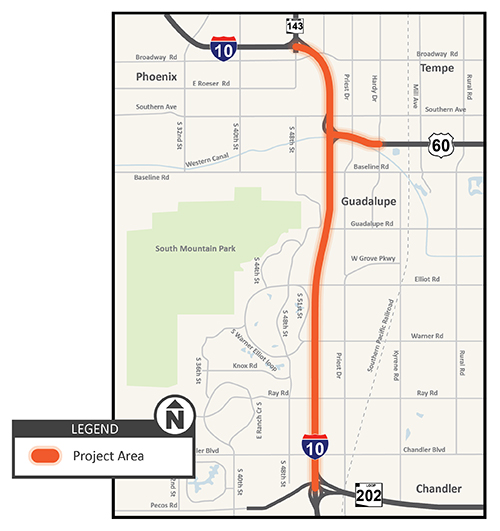 I-10 Project Area Map Graphic