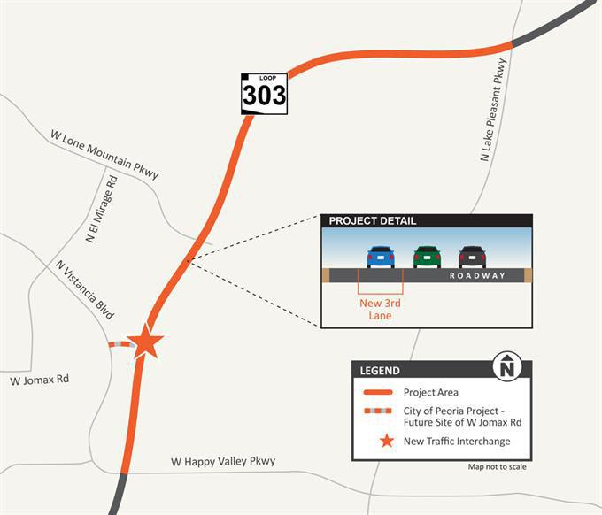 Map Of Loop 303 Arizona.Loop 303 Happy Valley Parkway To Lake Pleasant Parkway And Jomax