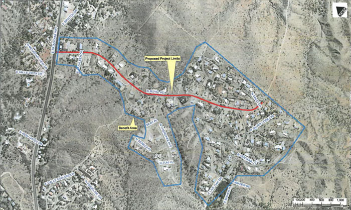 Nogales Bicycle and Pedestrian Master Plan/Royal Road Multi-Use Path Map