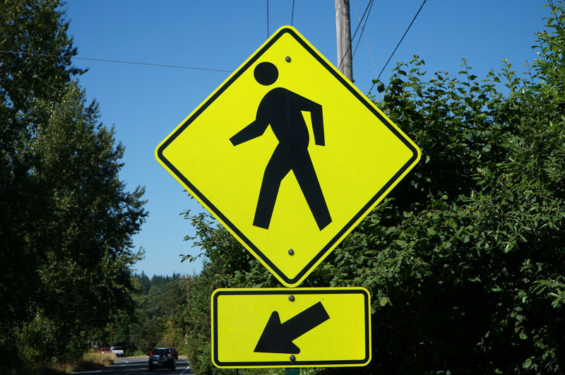 Example of Pedestrian Crosswalk Sign