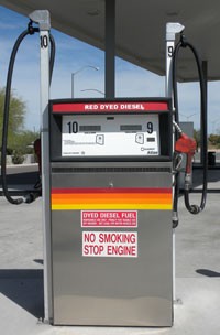 Red Diesel Pump
