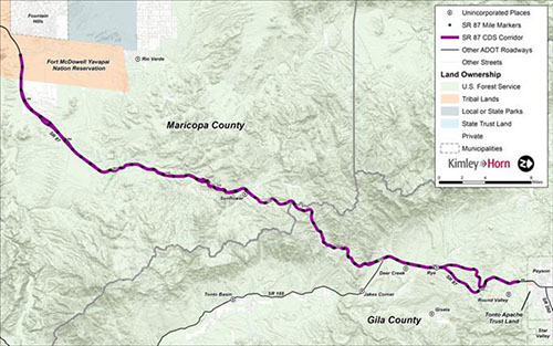 State Route 87 Corridor Development Study map