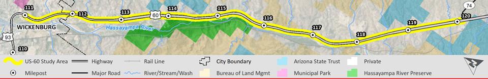 US 60 Corridor Study Map