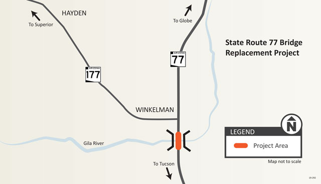 Project Area Map:  State Route 77 Bridge Replacement Project