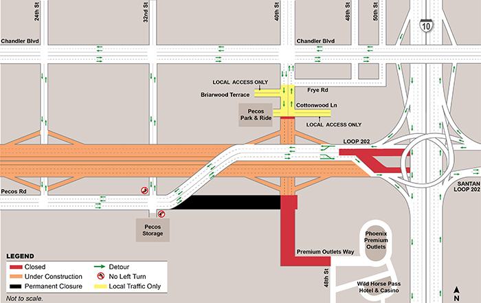 40th Street Closure Map - May 12 - September 6