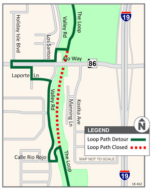 Bike path detour map