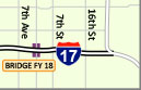 Interstate 17 map 19th Avenue and Central Ave Bridge