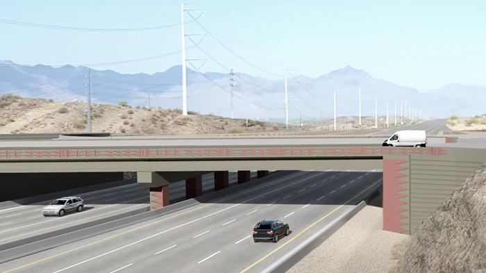 Aesthetic Rendering: Cholla Ocotillo Pattern - Pecos Segment - Desert Foothills Parkway