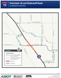I-10 and Ruthrauff Road Alternative Route Flyer